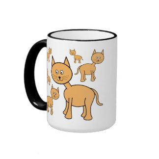 Cute Ginger Cats.  Cat Cartoon. Ringer Coffee Mug