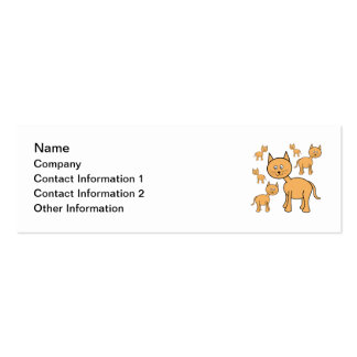 Cute Ginger Cats.  Cat Cartoon. Pack Of Skinny Business Cards