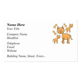 Cute Ginger Cats.  Cat Cartoon. Pack Of Standard Business Cards