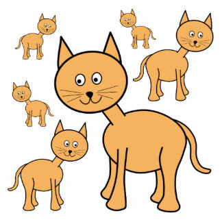 Cute Ginger Cats.  Cat Cartoon. Acrylic Cut Out