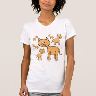 Cute Ginger Cats.  Cat Cartoon. Tee Shirt