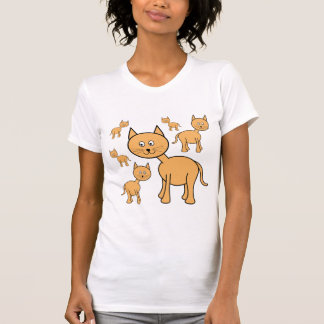 Cute Ginger Cats.  Cat Cartoon. Tshirt