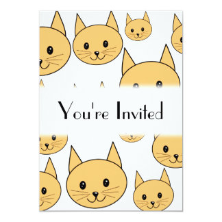 Cute Ginger Cats. 5x7 Paper Invitation Card