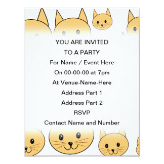 Cute Ginger Cats. 4.25x5.5 Paper Invitation Card