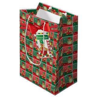 Cute Gingerbread Boy | Christmas Medium Gift Bag