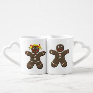 Cute Gingerbread Boy & Gingerbread Girl Christmas Couples Mug