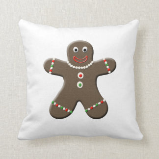 Cute Gingerbread Boy & Girl Christmas Throw Pillow Throw Cushions