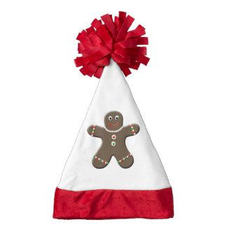 Cute Gingerbread Boy Man Christmas Festive Xmas Santa Hat