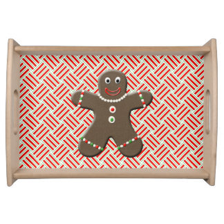 Cute Gingerbread Boy Man Christmas Festive Xmas Serving Platter