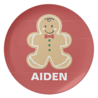 Cute Gingerbread Christmas Name Plate