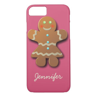 Cute Gingerbread Cookie In Party Dress iPhone 8/7 Case
