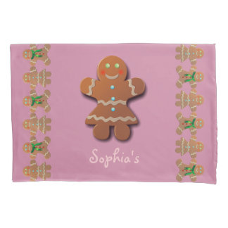 Cute Gingerbread Cookie Pillowcase