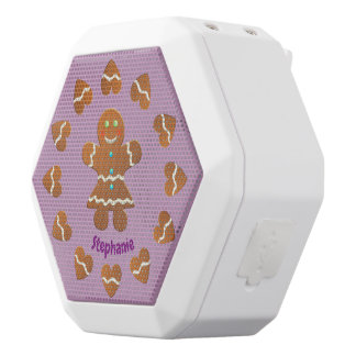 Cute Gingerbread Cookie White Bluetooth Speaker