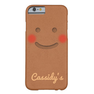 Cute Gingerbread Cookie With Rosy Cheeks Barely There iPhone 6 Case