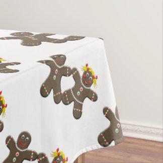 Cute Gingerbread Cookies Man Woman Tablecloth