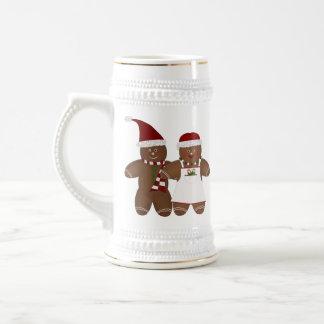Cute Gingerbread Couple Stein