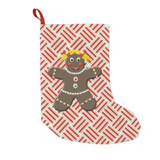 Cute Gingerbread Girl Woman Christmas Red