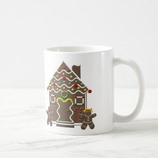 Cute Gingerbread House Boy Girl Christmas Festive Coffee Mugs