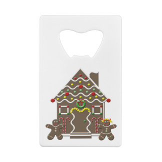 Cute Gingerbread House Boy Girl Christmas Holiday