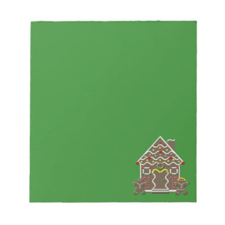 Cute Gingerbread House Christmas Note Pad