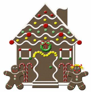 Cute Gingerbread House Christmas Sculpture Cutout Standing Photo Sculpture