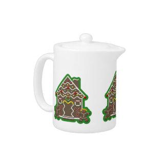 Cute  Gingerbread House Christmas Teapot
