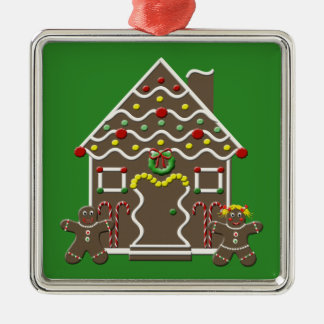 Cute Gingerbread House Christmas Tree Ornament
