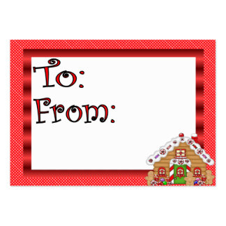Cute Gingerbread House Gift Tag Business Card Templates