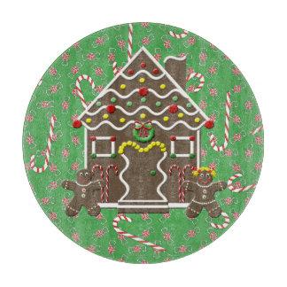 Cute Gingerbread House Gingerbread Couple Cutting Board