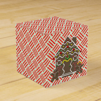 Cute Gingerbread House Gingerbread Couple Party Favour Box