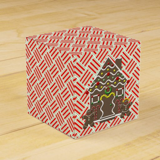 Cute Gingerbread House Gingerbread Couple Party Favor Box