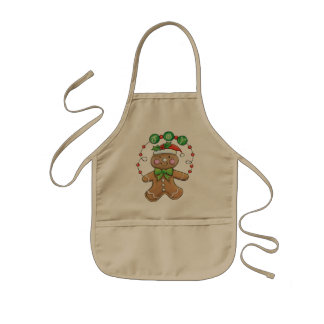 Cute Gingerbread Kids Apron for the Holidays