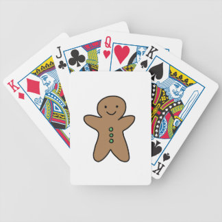 CUTE GINGERBREAD MAN BICYCLE PLAYING CARDS