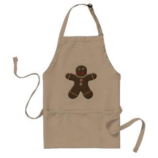 Cute Gingerbread Man Boy Holiday Christmas Festive Adult Apron