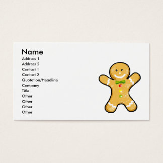 Cute gingerbread man cookie business card