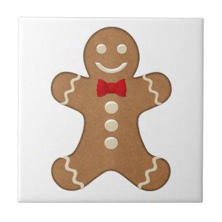 Cute Gingerbread Man Cookie Christmas Tile