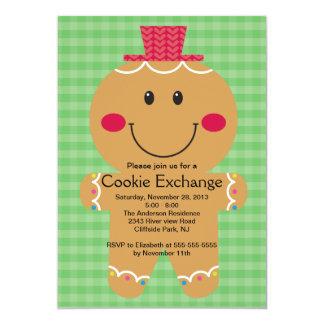 Cute Gingerbread Man Cookie Exchange Invitation