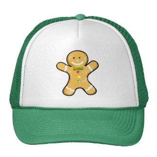 Cute gingerbread man cookie trucker hats
