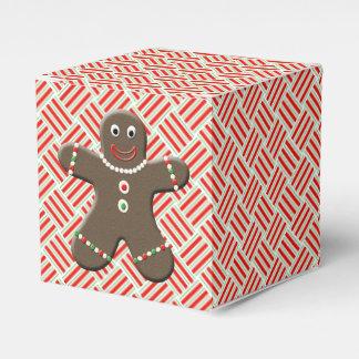 Cute Gingerbread Man Festive Christmas Xmas Favor Box