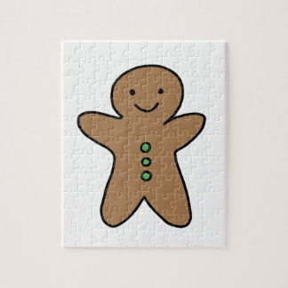 CUTE GINGERBREAD MAN JIGSAW PUZZLE