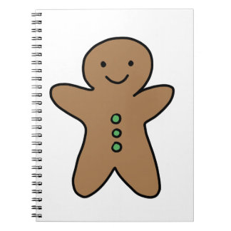 CUTE GINGERBREAD MAN NOTEBOOKS