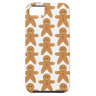 Cute Gingerbread Man Pattern Tough iPhone 5 Case