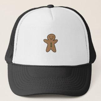 CUTE GINGERBREAD MAN TRUCKER HAT