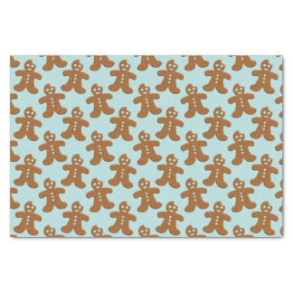 Cute Gingerbread Men Christmas Cookies Pattern Tissue Paper