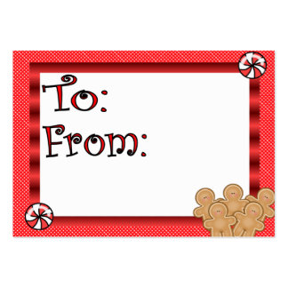 Cute Gingerbread Men Gift Tag Pack Of Chubby Business Cards