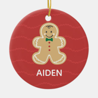 Cute Gingerbread Name Ornament