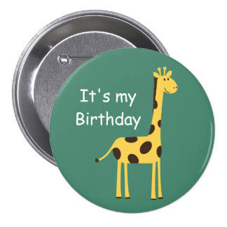 Cute Giraffe 7.5 Cm Round Badge