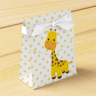 Cute Giraffe and Yellow Dots Favour Box