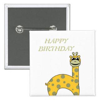 Cute Giraffe 15 Cm Square Badge