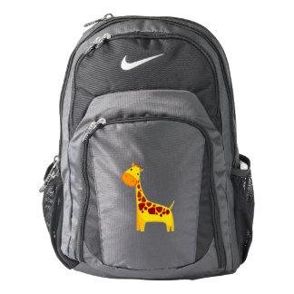 Cute giraffe cartoon backpack